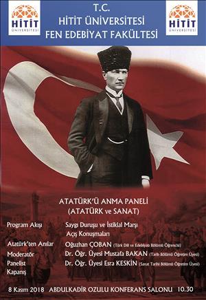 """""""Atatürk ve Sanat"""" Paneli Düzenlenecektir"""