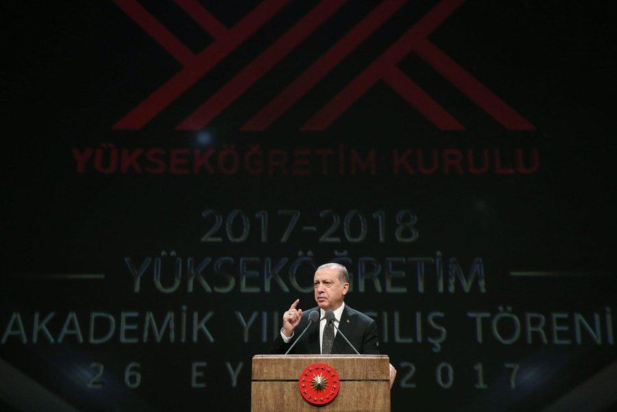 2017-2018 Yükseköğretim Akademik Yılı Açılış Töreni Cumhurbaşkanlığı Külliyesinde Gerçekleştirildi