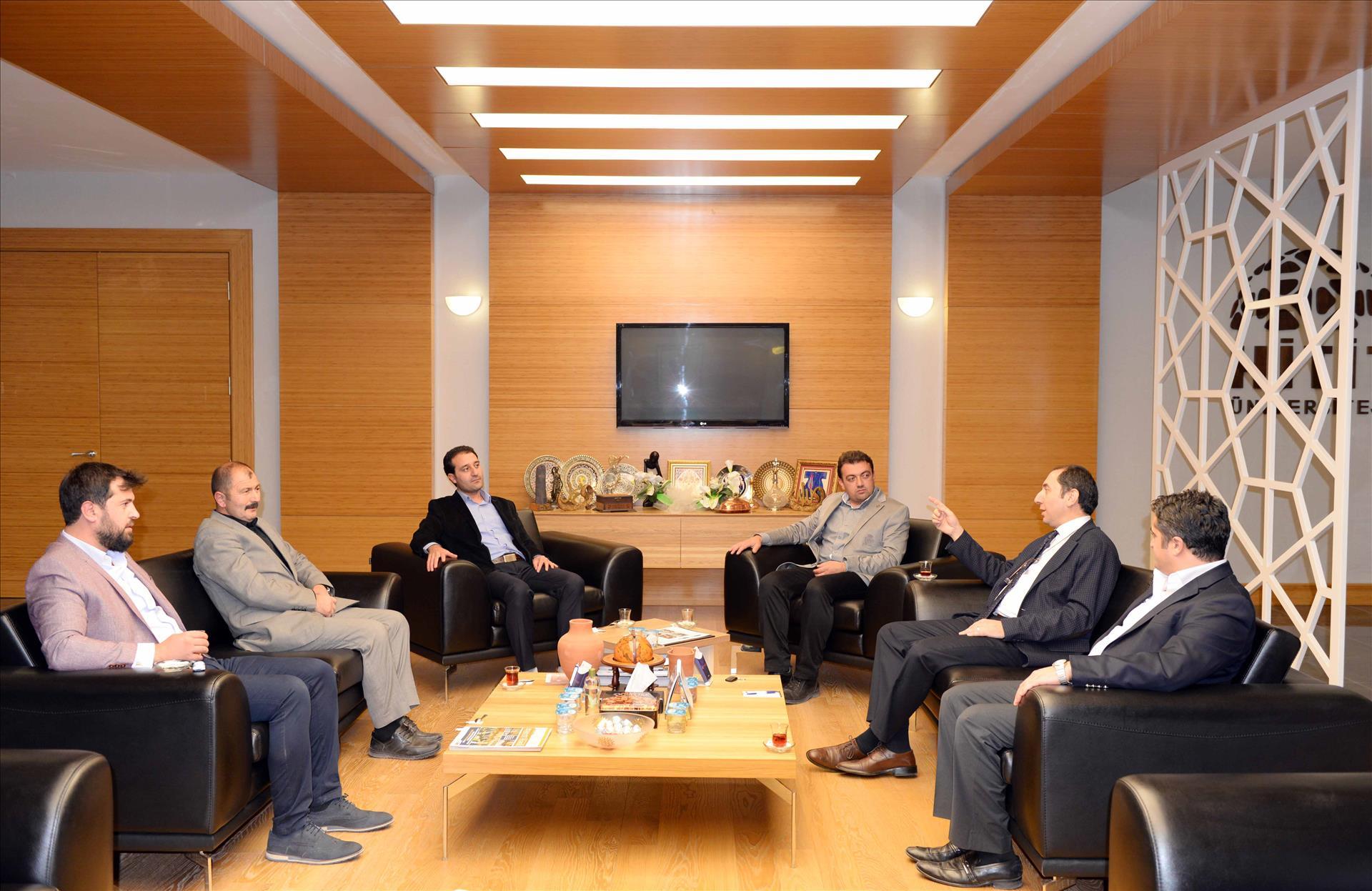 Erbakan Vakfı Çorum Şubesinden Rektörümüze Nezaket Ziyareti