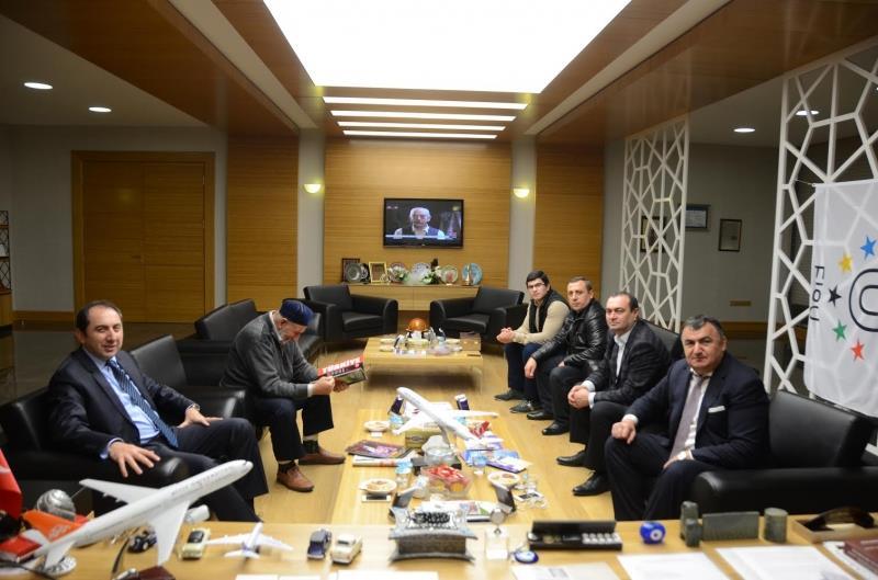 Dünya Ahıska Türkleri Birliği (DATÜB) Yönetim Kurulu Rektörümüzü Ziyaret Etti