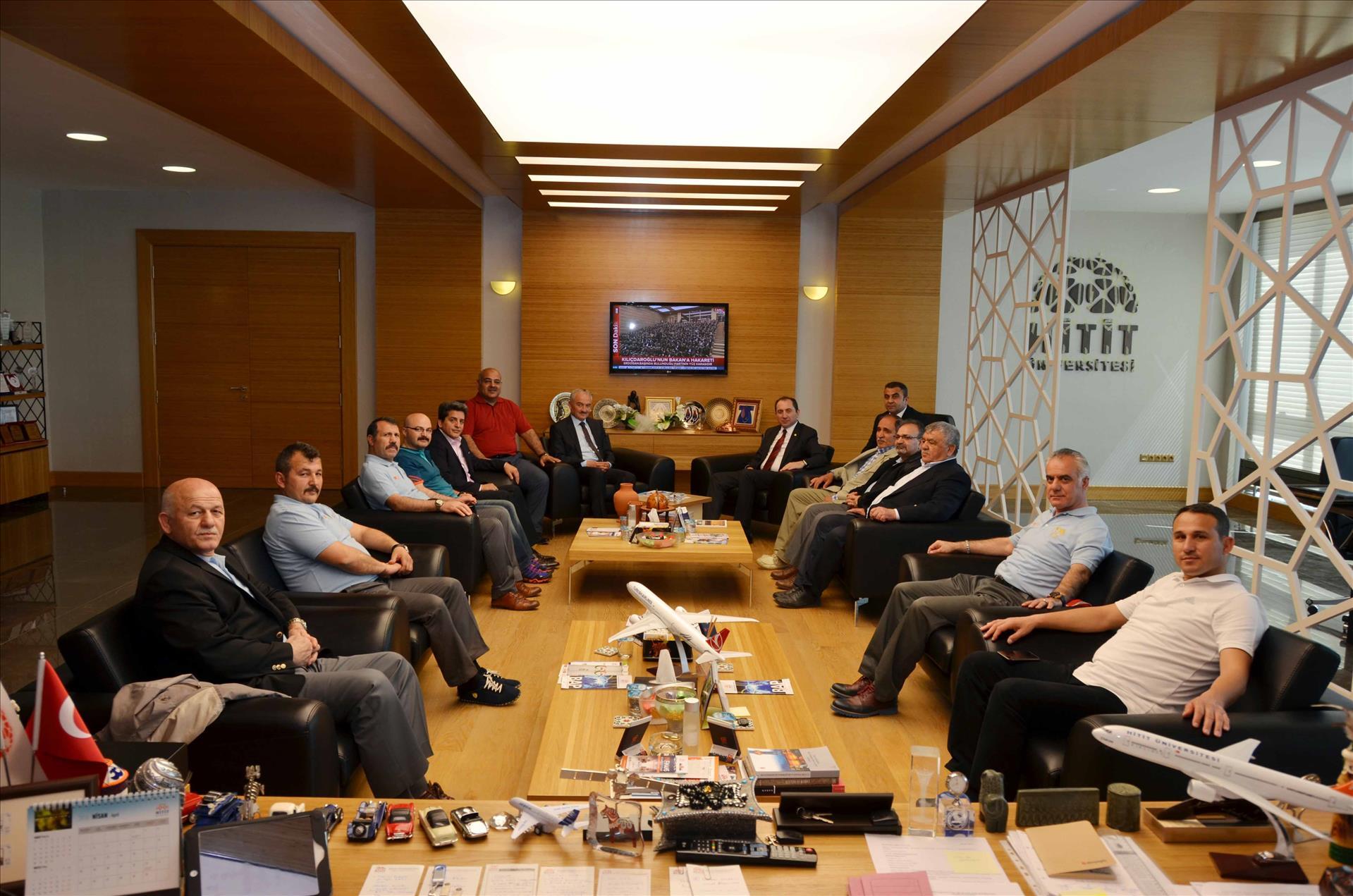 Üniversitelerarası Türkiye Güreş Şampiyonası Öncesi Rektörümüze Ziyaret