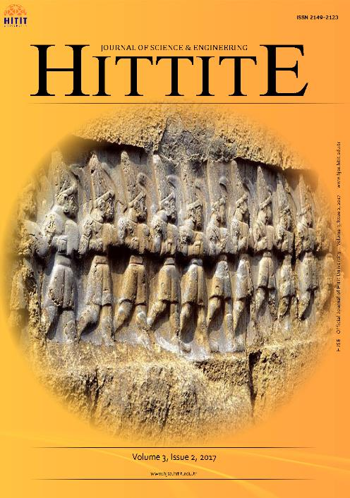 Hittite Journal of Science and Engineering Dergisi TR Dizin İndeksince Taranmaya Başladı