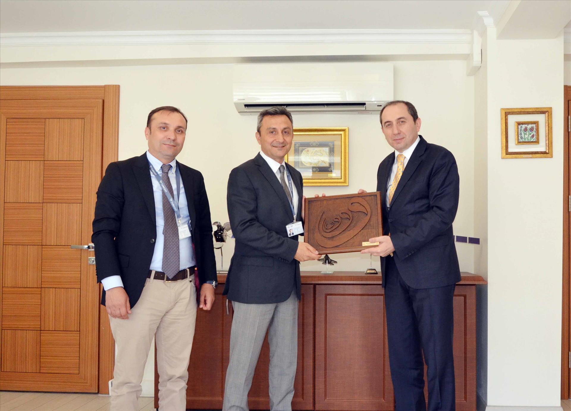 Rektörümüzden Türksat A.Ş. Genel Müdürüne Hayırlı Olsun Ziyareti