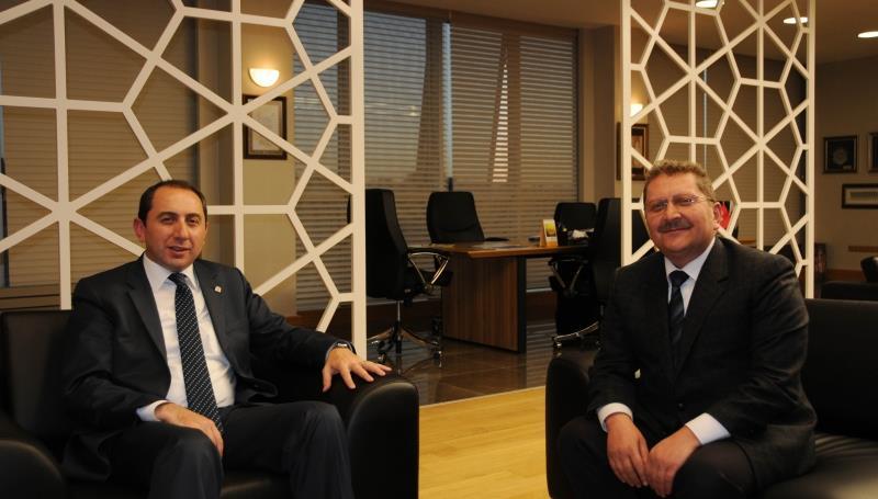 Çorum Orman İşletme Müdürü Osman Erişen'den Rektörümüze Ziyaret