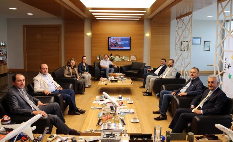 ÇOSİAD Yönetim Kurulu Üyelerinden Rektörümüze Ziyaret