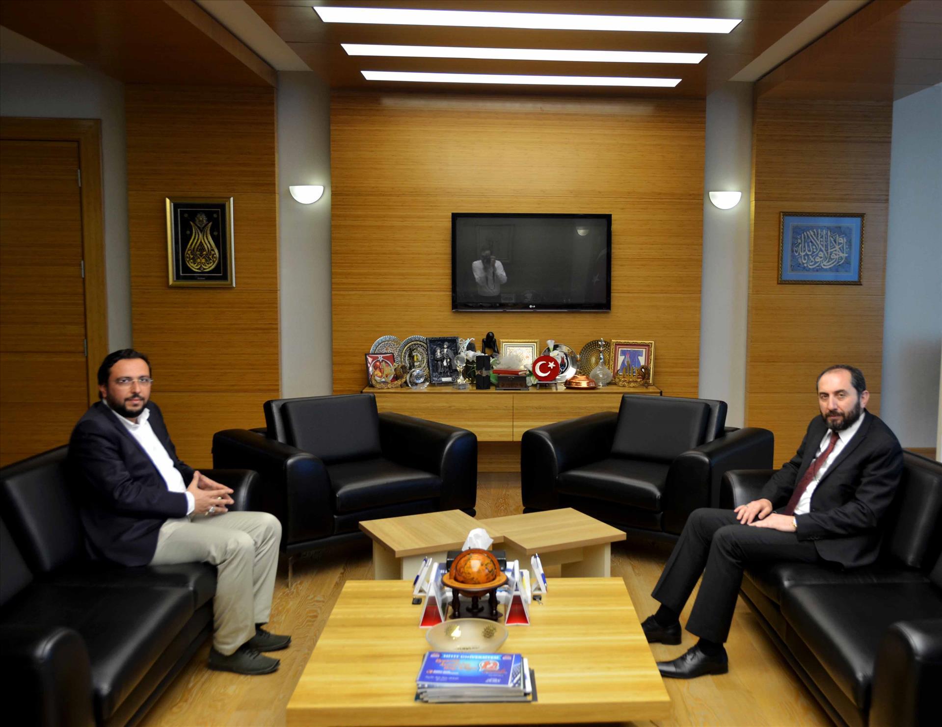 AK Parti İskilip İlçe Başkanı Rektörümüzü Ziyaret Etti