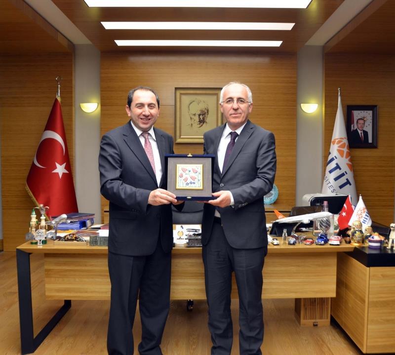 Türksat A.Ş. Genel Müdüründen Rektörümüze Hayırlı Olsun Ziyareti