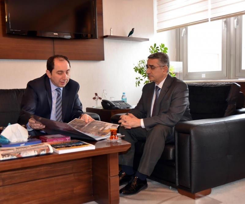Rektörümüz Kalkınma Bakanlığı Müsteşar Yardımcısı Yılmaz Tuna'yı Ziyaret Etti