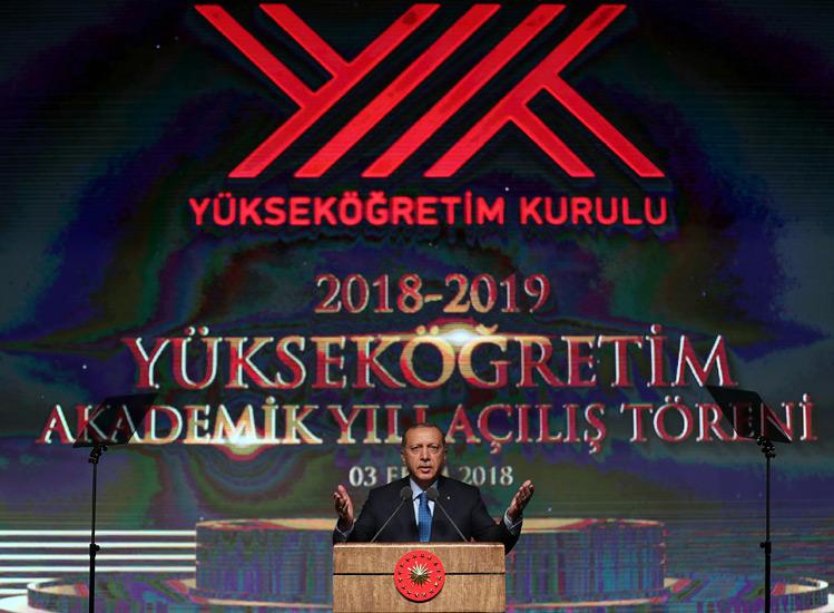 2018-2019 Yükseköğretim Akademik Yılı Açılış Töreni Cumhurbaşkanlığı Külliyesinde Gerçekleştirildi
