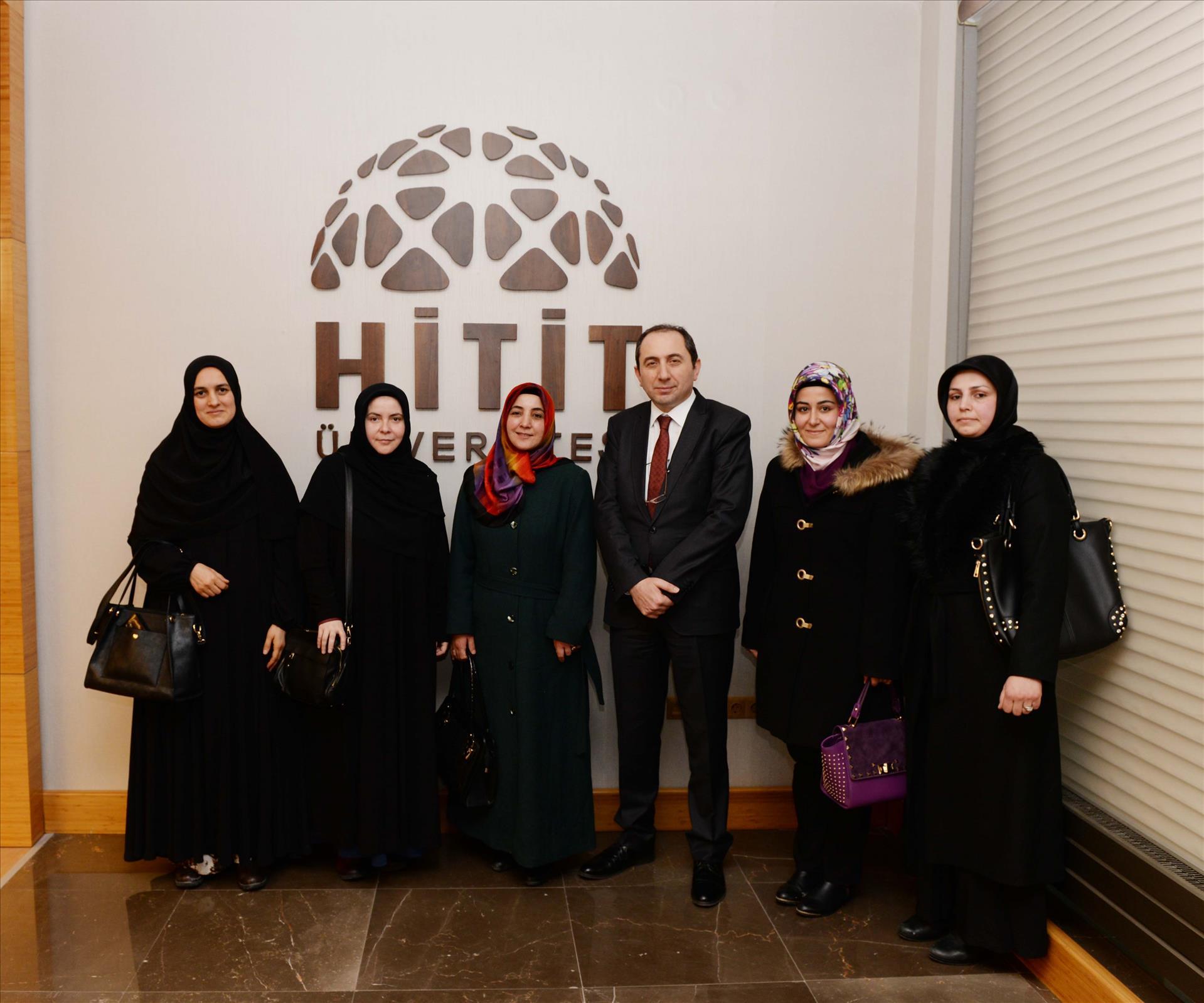 Erbakan Vakfı Kadın Kollarından Rektörümüze Nezaket Ziyareti