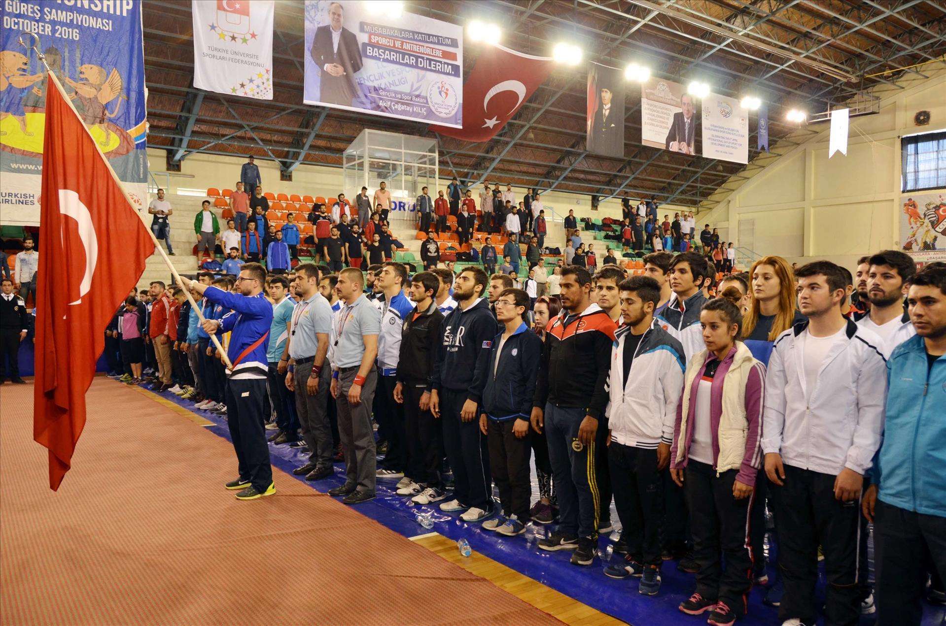 Start for the Turkey Interuniversities Wrestling Championship