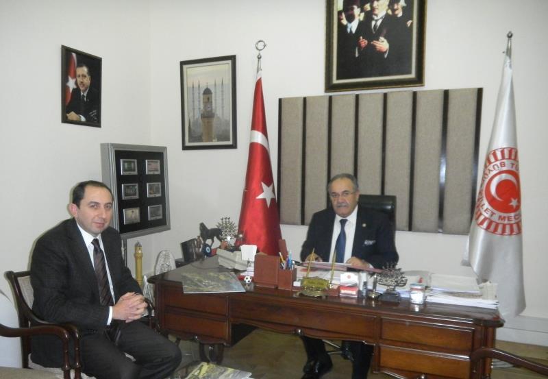 Rektörümüz Çorum Milletvekili ve TBMM İdare Amiri Salim Uslu'yu Ziyaret Etti