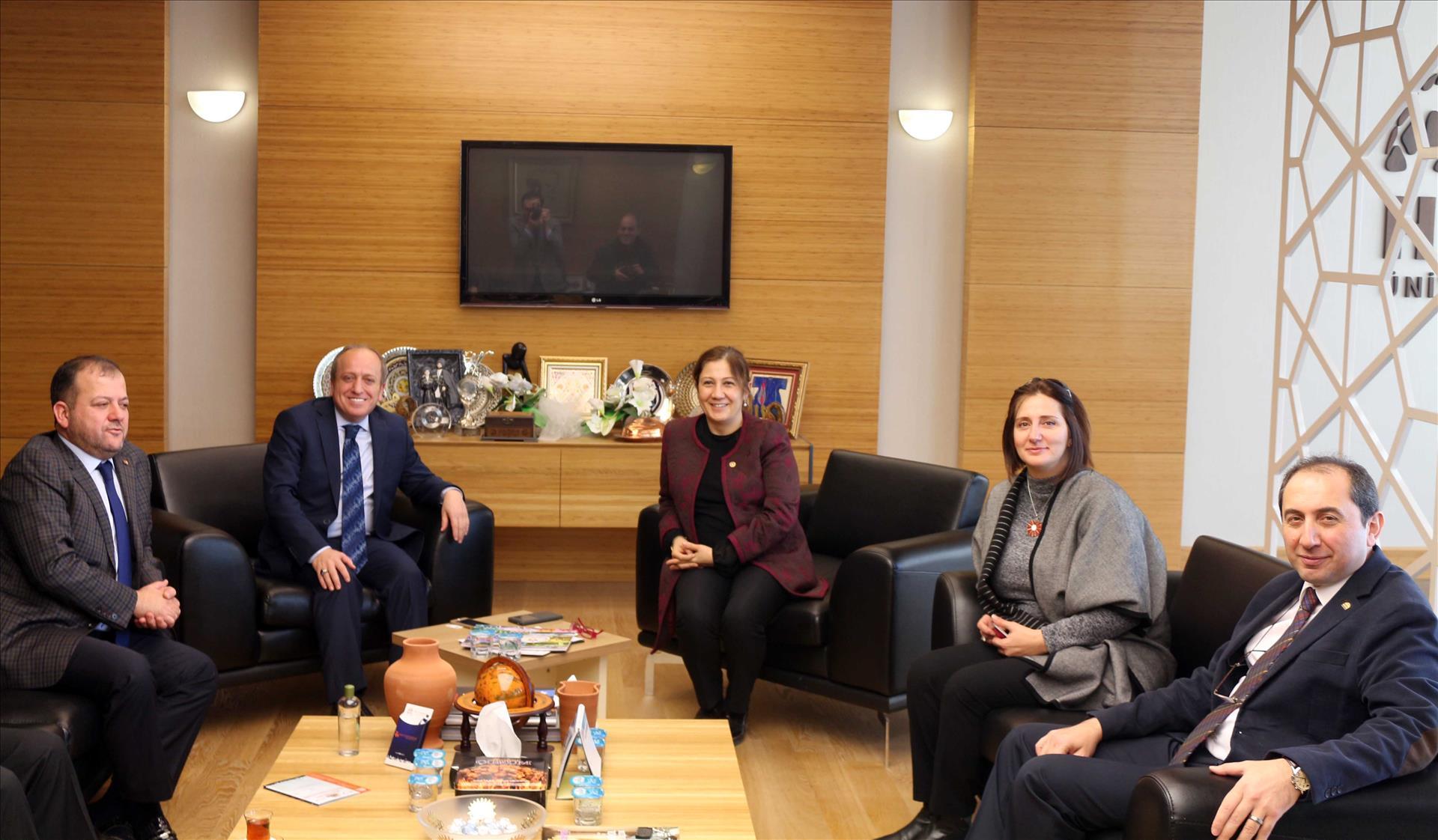 Milletvekili Kurt ve AK Parti İl Başkanı Av. Karadağ Rektörümüzü Ziyaret Etti