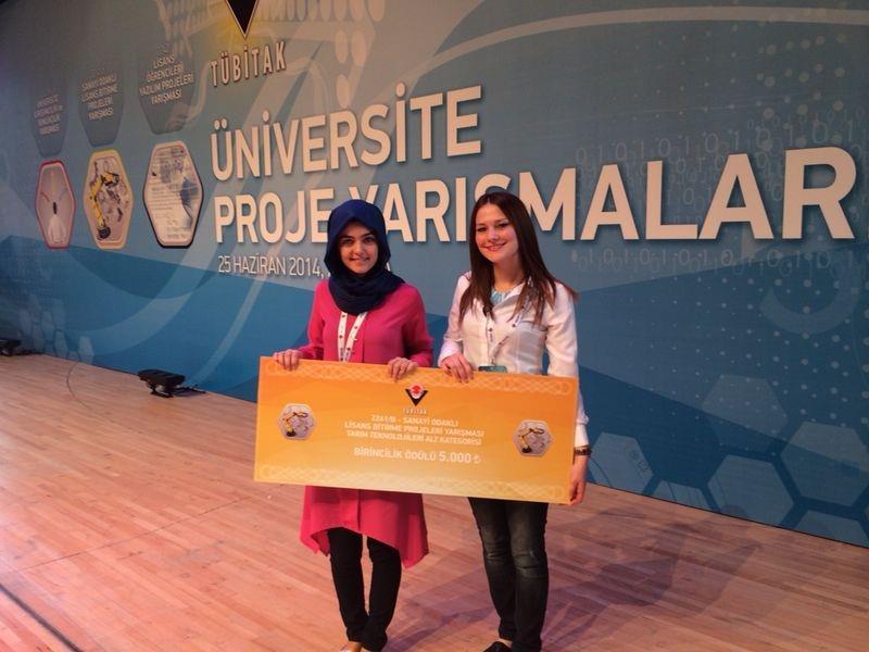 Öğrencilerimiz TÜBİTAK Sanayi Odaklı Lisans Bitirme Projeleri Yarışması'nda Birinci Oldu