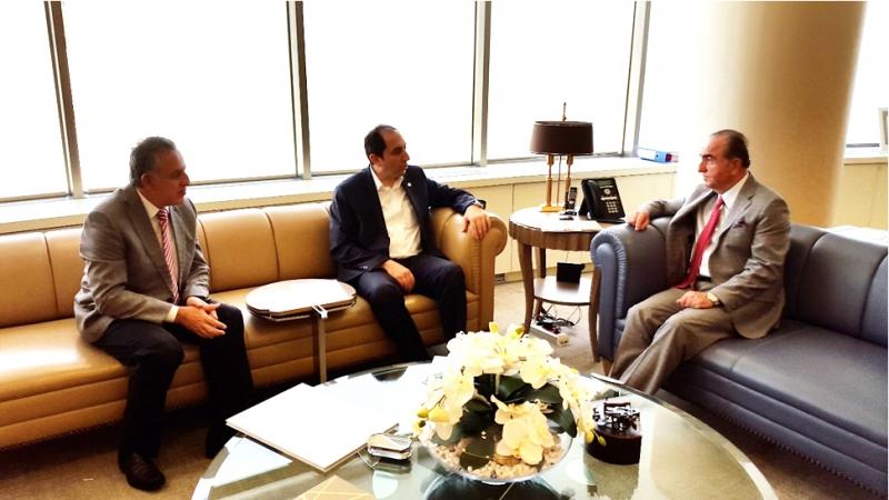 Rektörümüz Sinpaş GYO Yönetim Kurulu Başkanı Avni Çelik'i Ziyaret Etti