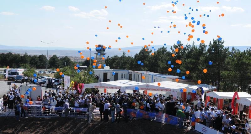 Üniversitemizde HÜBTUAM Binasının Temel Atma Töreni Gerçekleştirildi