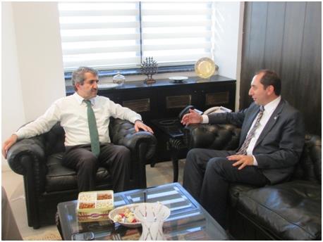 Rektörümüz ÖSYM Başkanı Prof. Dr. Ali Demir'i Ziyaret Etti
