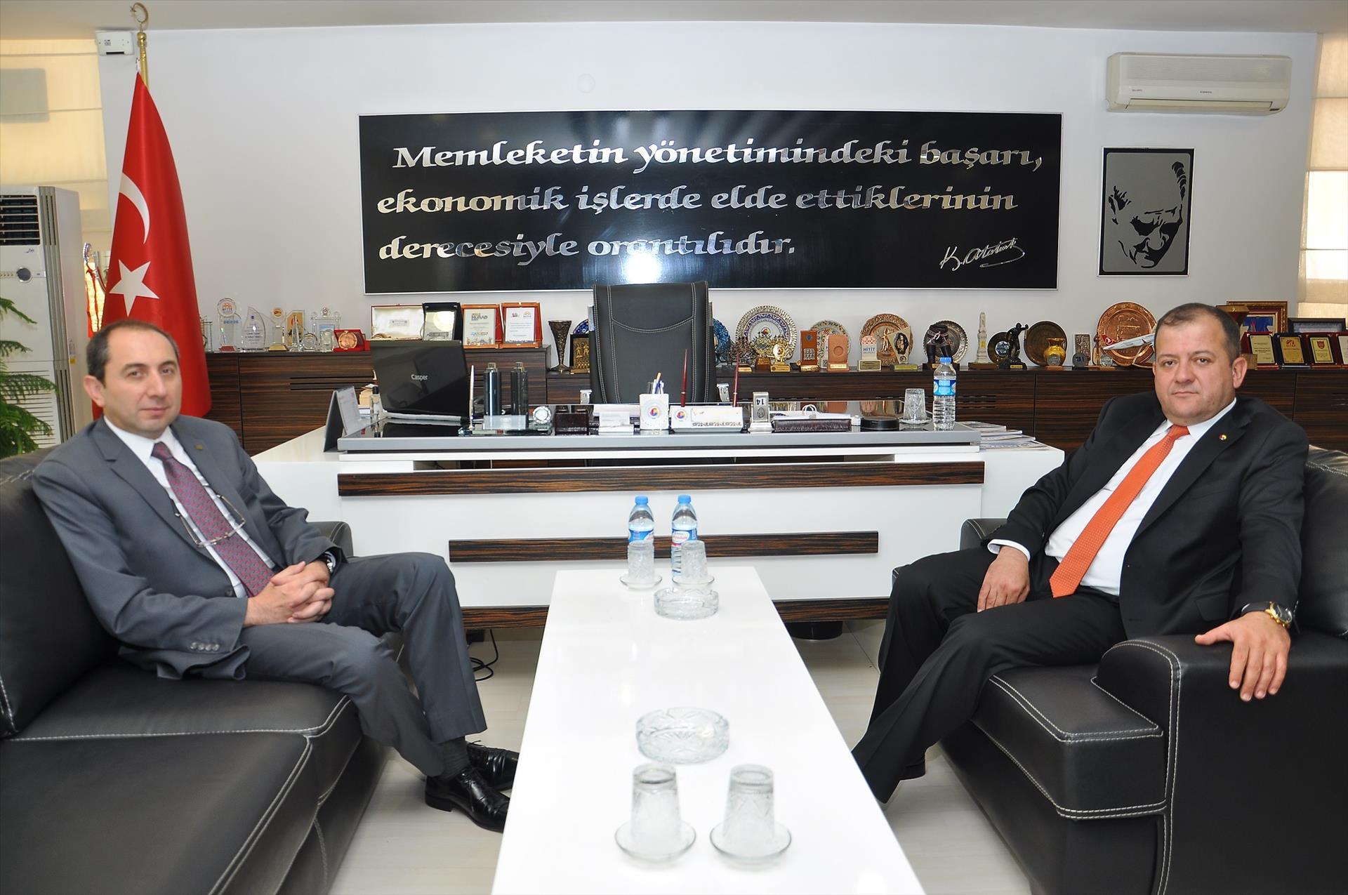 Rektörümüzden ÇTSO Başkanı Başarahıncal'a Teşekkür Ziyareti