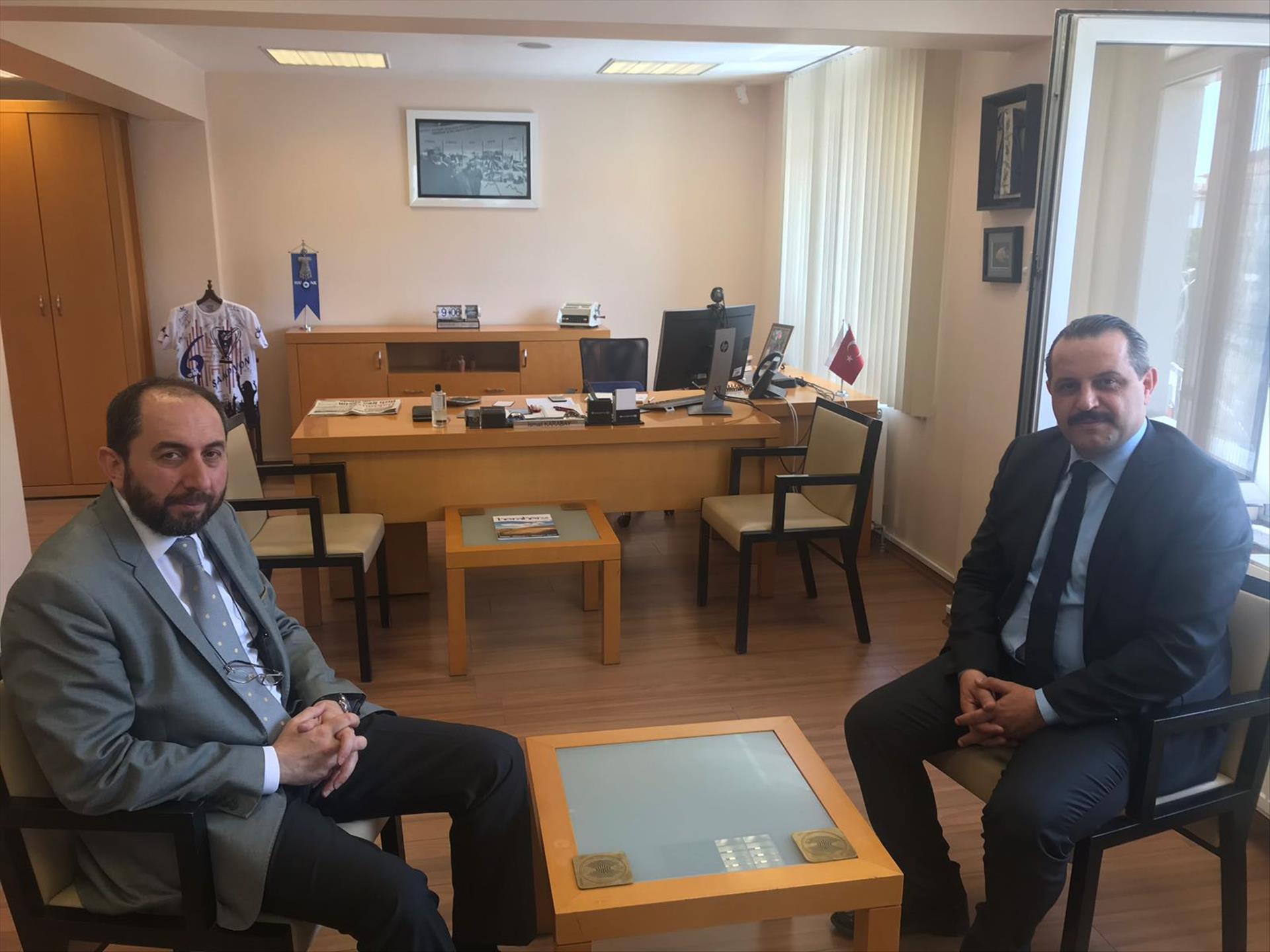 Rektörümüz Halkbank Çorum Şube Müdürü Karabay'ı Ziyaret Etti