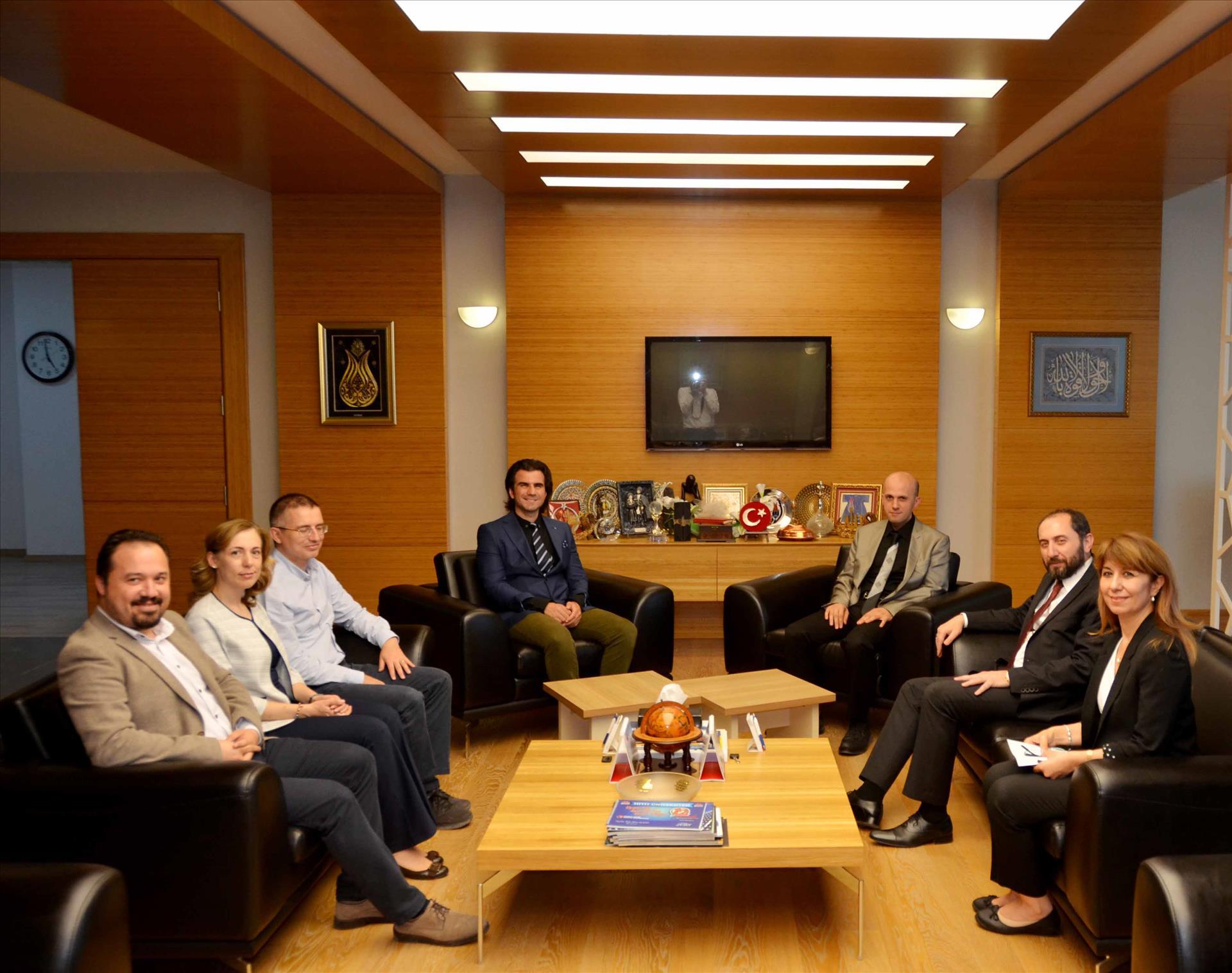 Çorum Tabip Odası Yeni Yönetim Kurulu Rektörümüzü Ziyaret Etti