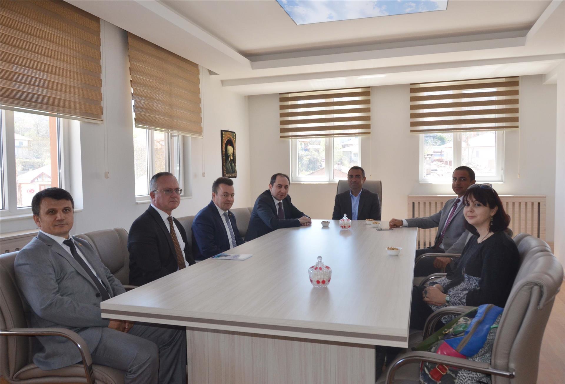 Rektörümüzden Boğazkale Belediye Başkanı Tangazoğlu'na Ziyaret