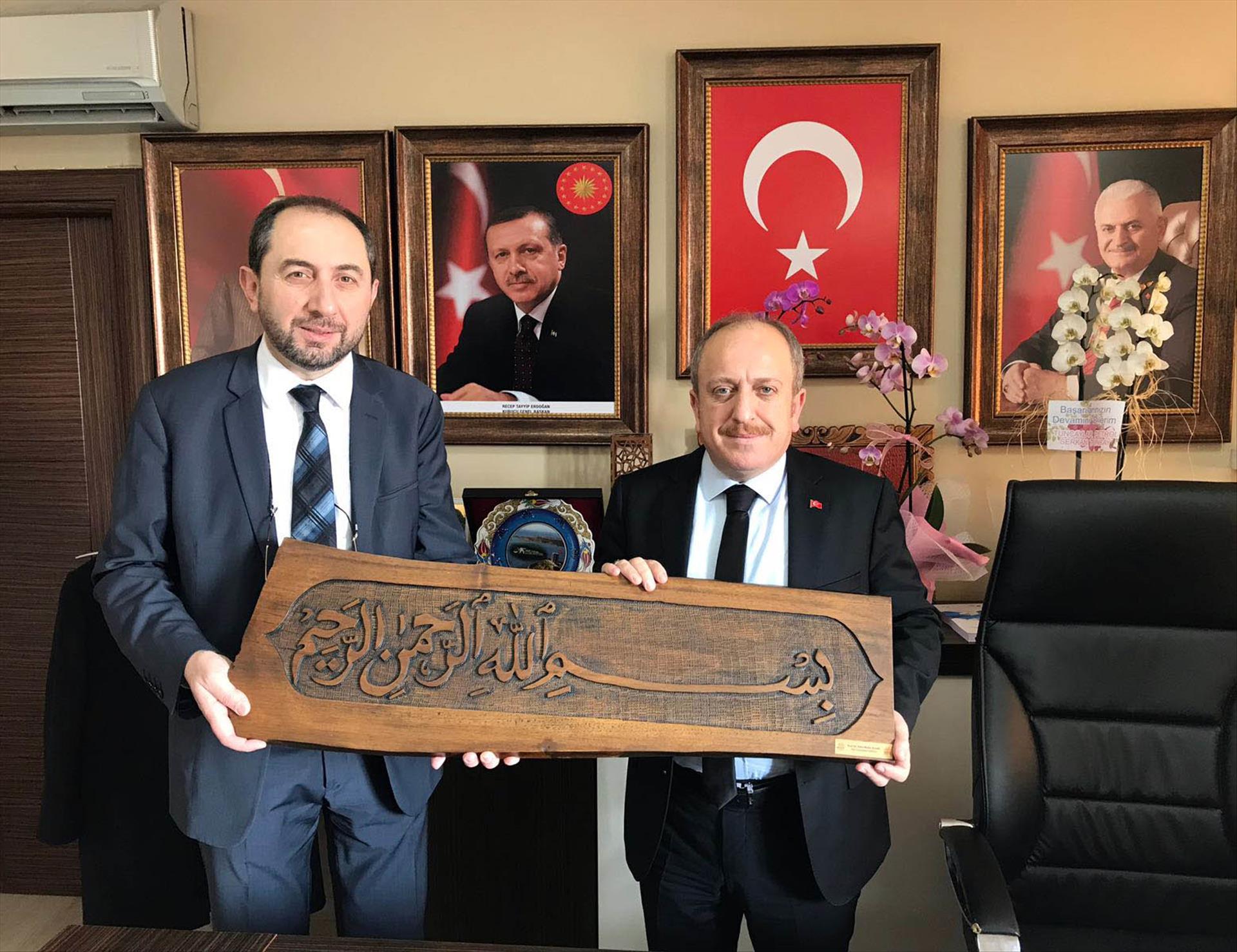 Rektörümüz AK Parti Çorum İl Başkanı Av. Karadağ'ı Tebrik Etti