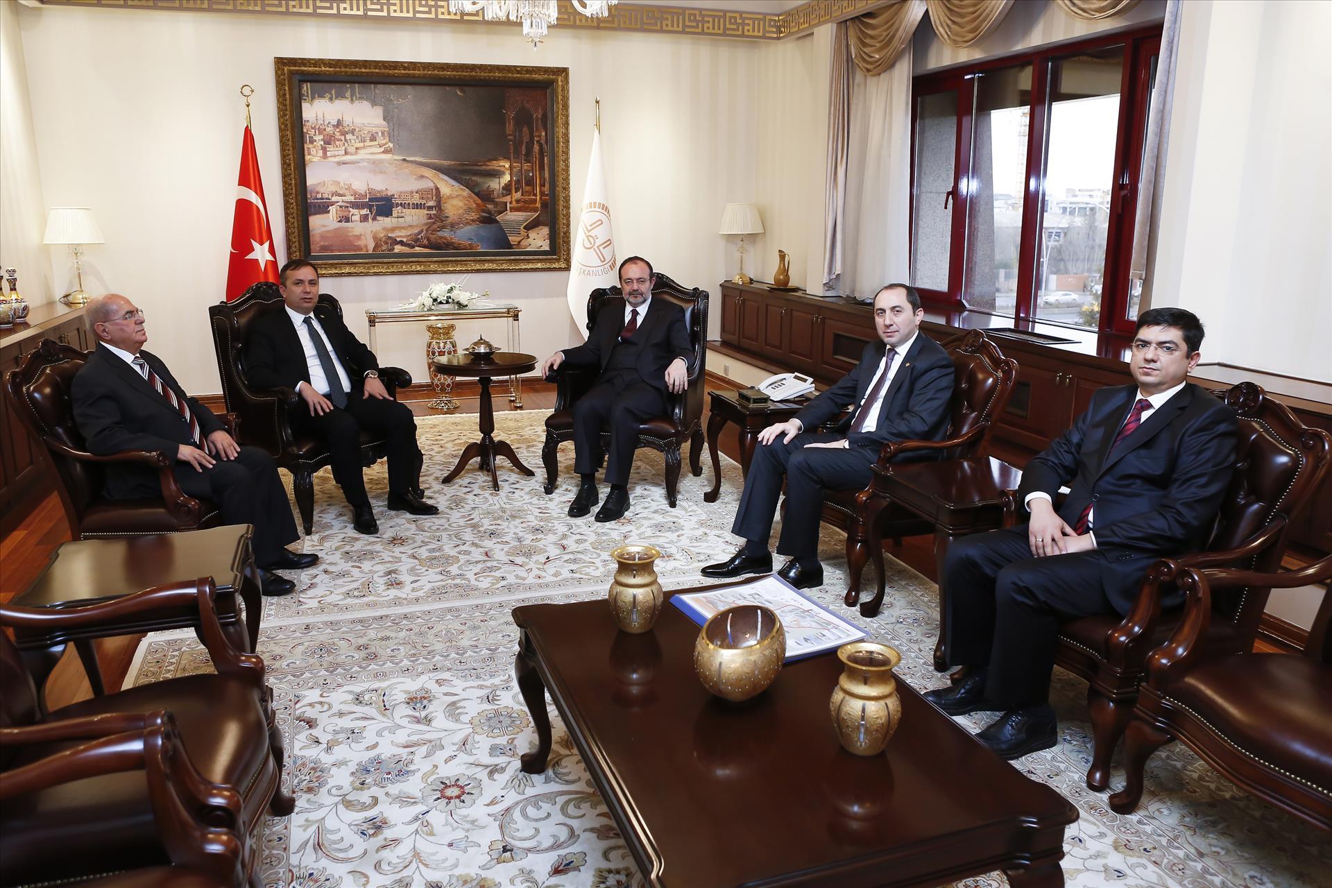 Rektörümüz Diyanet İşleri Başkanı Prof. Dr. Mehmet Görmez'i ZiyaretEtti