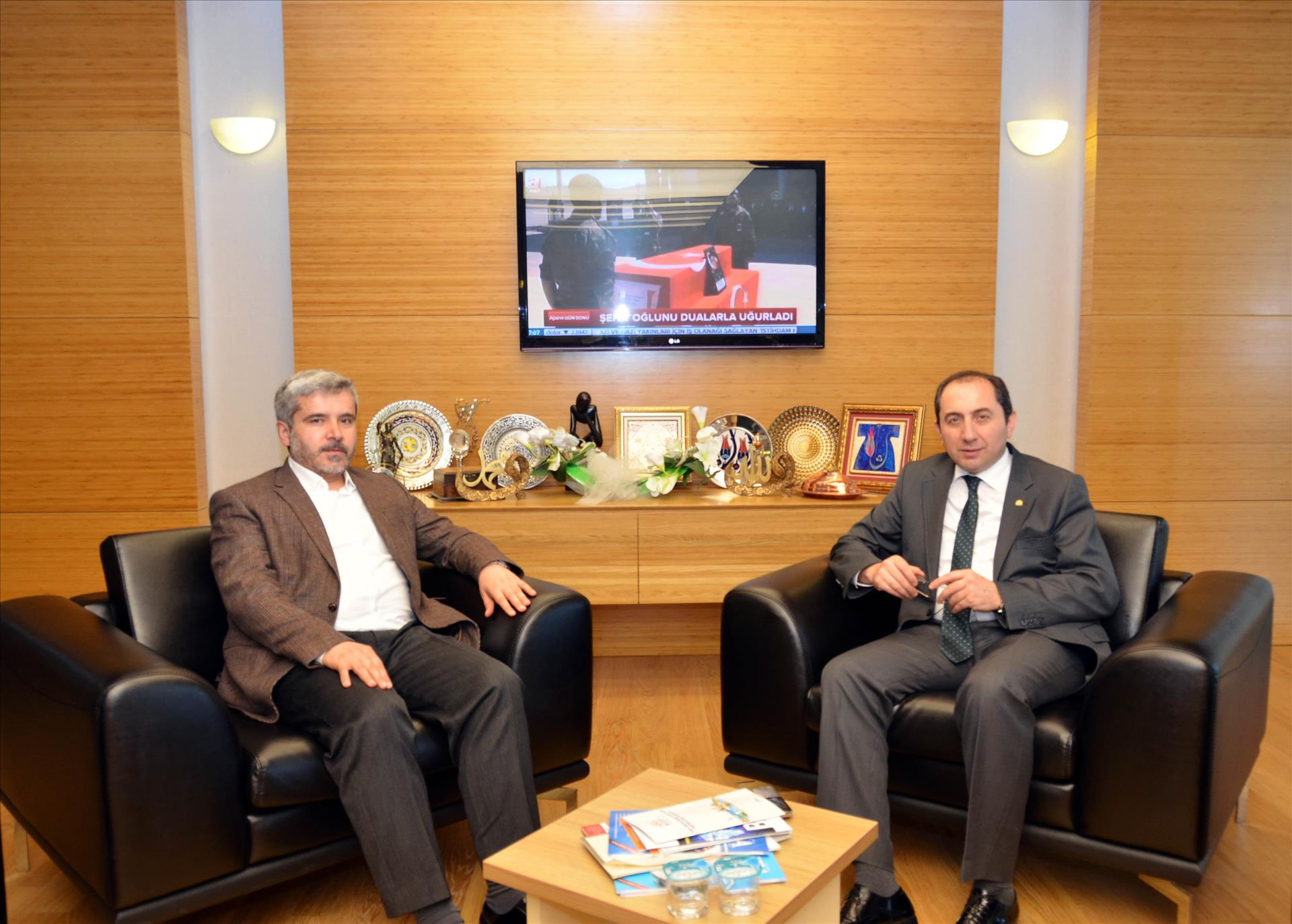 The Rector of Aksaray University Prof. Dr. Şahin Makes a Visit to Our Rector
