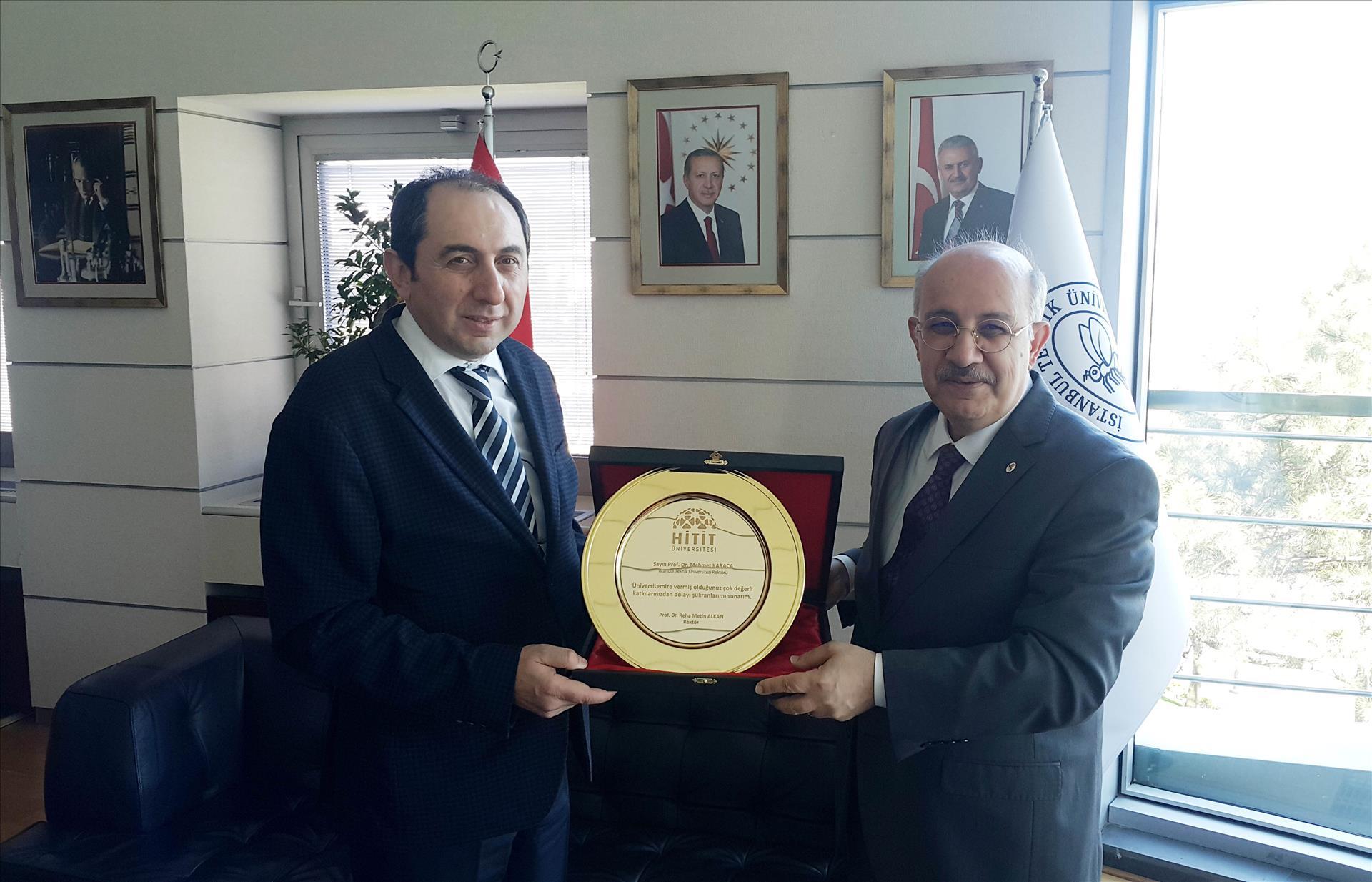 Rektörümüz İTÜ Rektörü Prof. Dr. Karaca'yı Ziyaret Etti