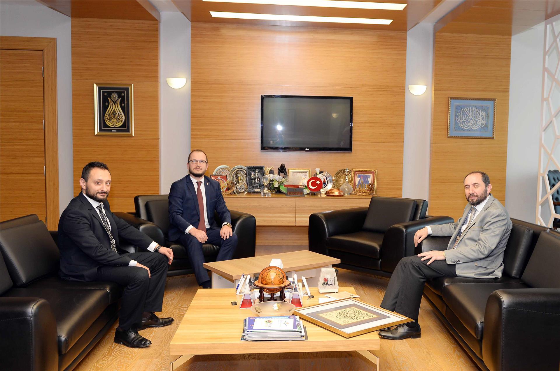 Albaraka Türk Katılım Bankasından Rektörümüze Ziyaret