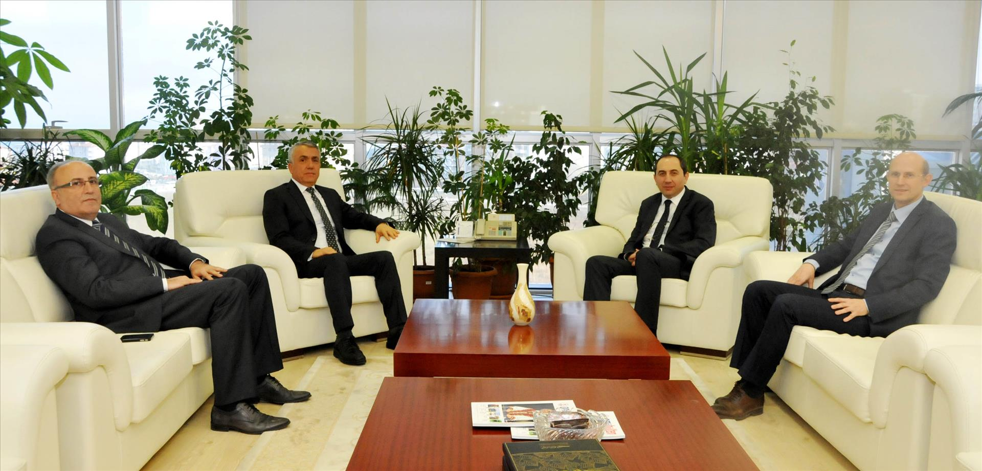 Rektörümüz Ondokuz Mayıs Üniversitesi Rektörü Prof. Dr. Sait Bilgiç'i Ziyaret Etti