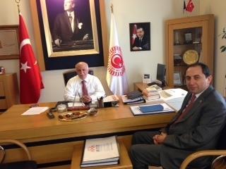 Rektörümüz AK Parti İstanbul Milletvekili Hemşehrimiz Feyzullah Kıyıklık'ı Ziyaret Etti