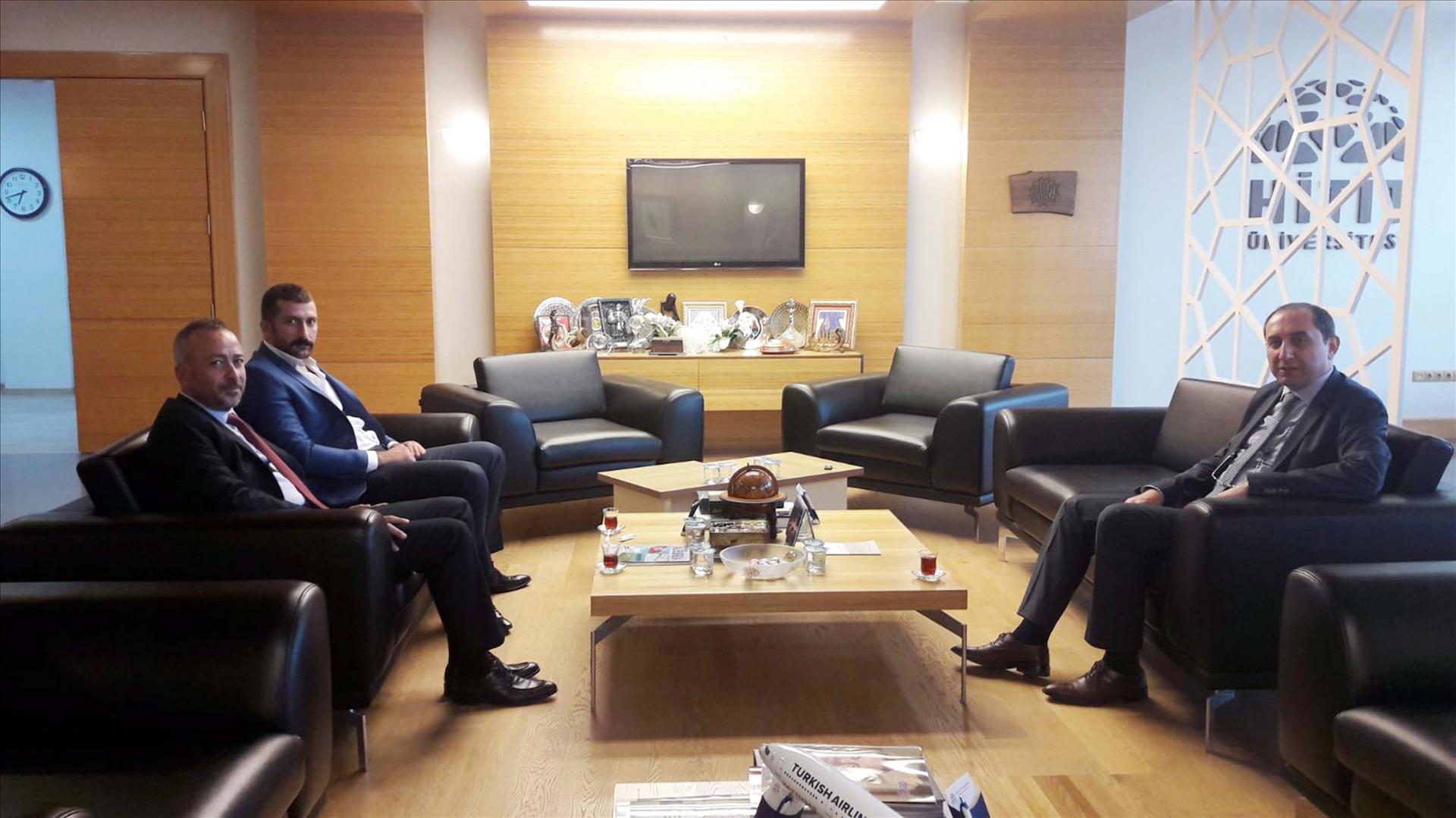MHP İl Başkanı Mehmet Akif Aras Rektörümüzü Ziyaret Etti