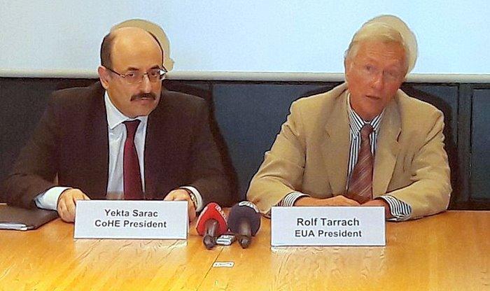 YÖK Başkanımız Prof.Dr. Yekta Saraç, Avrupalı Akademisyenlere Darbe Girişimi ve Sonrasındaki Gelişmeleri Anlattı