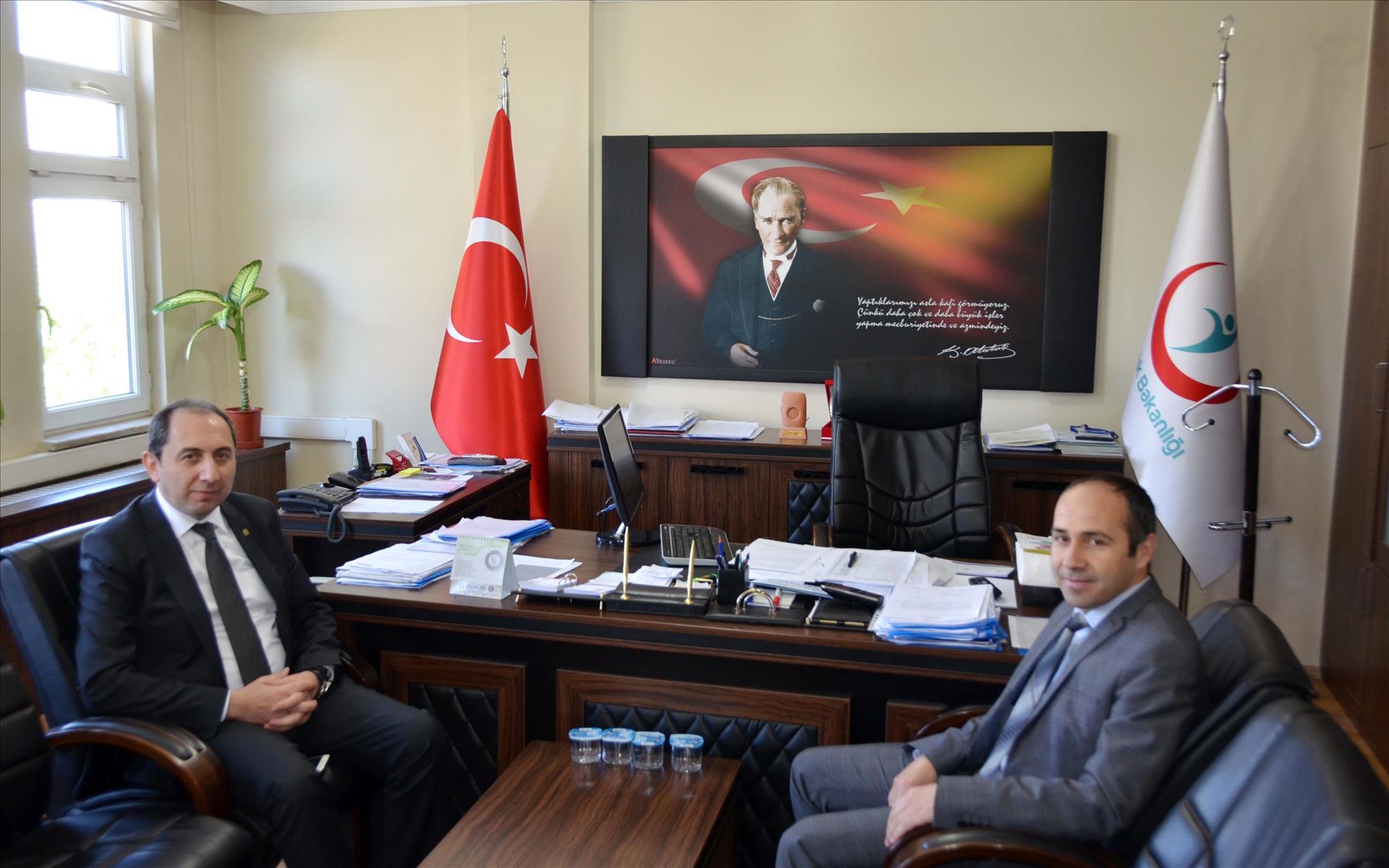 Rektörümüz Çorum Halk Sağlığı Müdürü Dr. Ahmet Barış'ı Ziyaret Etti