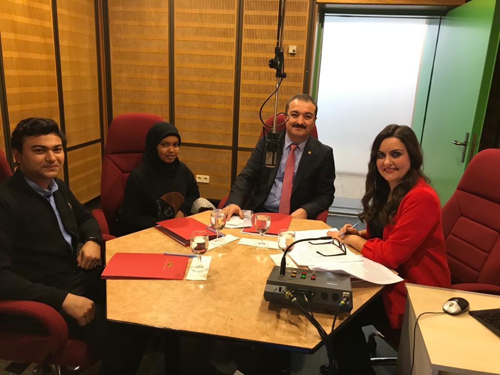 Rektörümüz Prof. Dr. Öztürk, TRT Türkiye'nin Sesi Radyosu'nun Konuğu Oldu