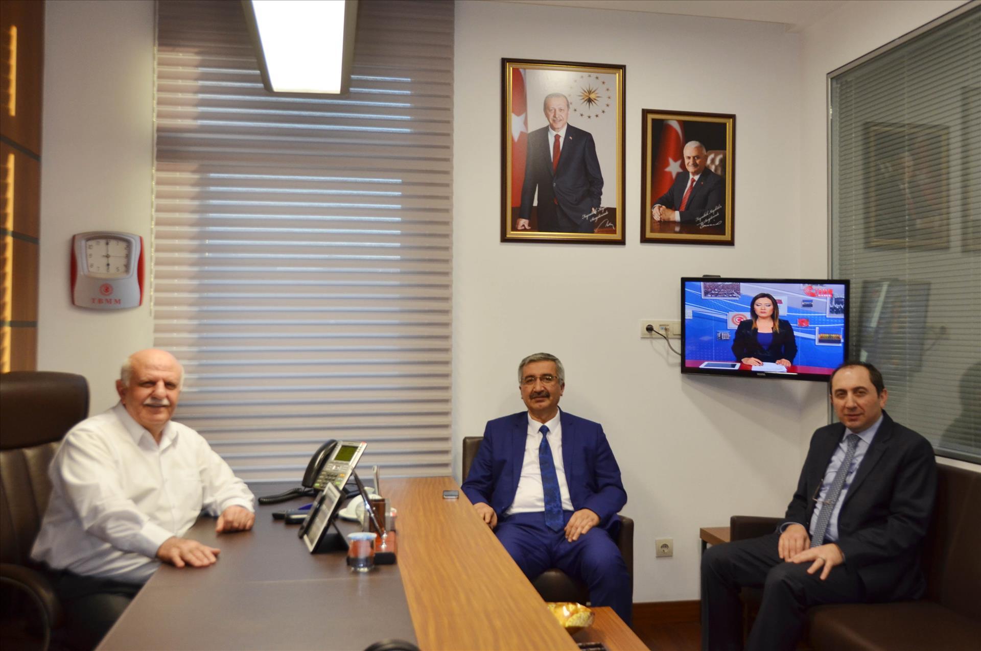 Vali Kılıç ve Rektör Prof. Dr. Alkan'dan AK Parti İstanbul Milletvekili Hemşehrimiz Kıyıklık'a Ziyaret