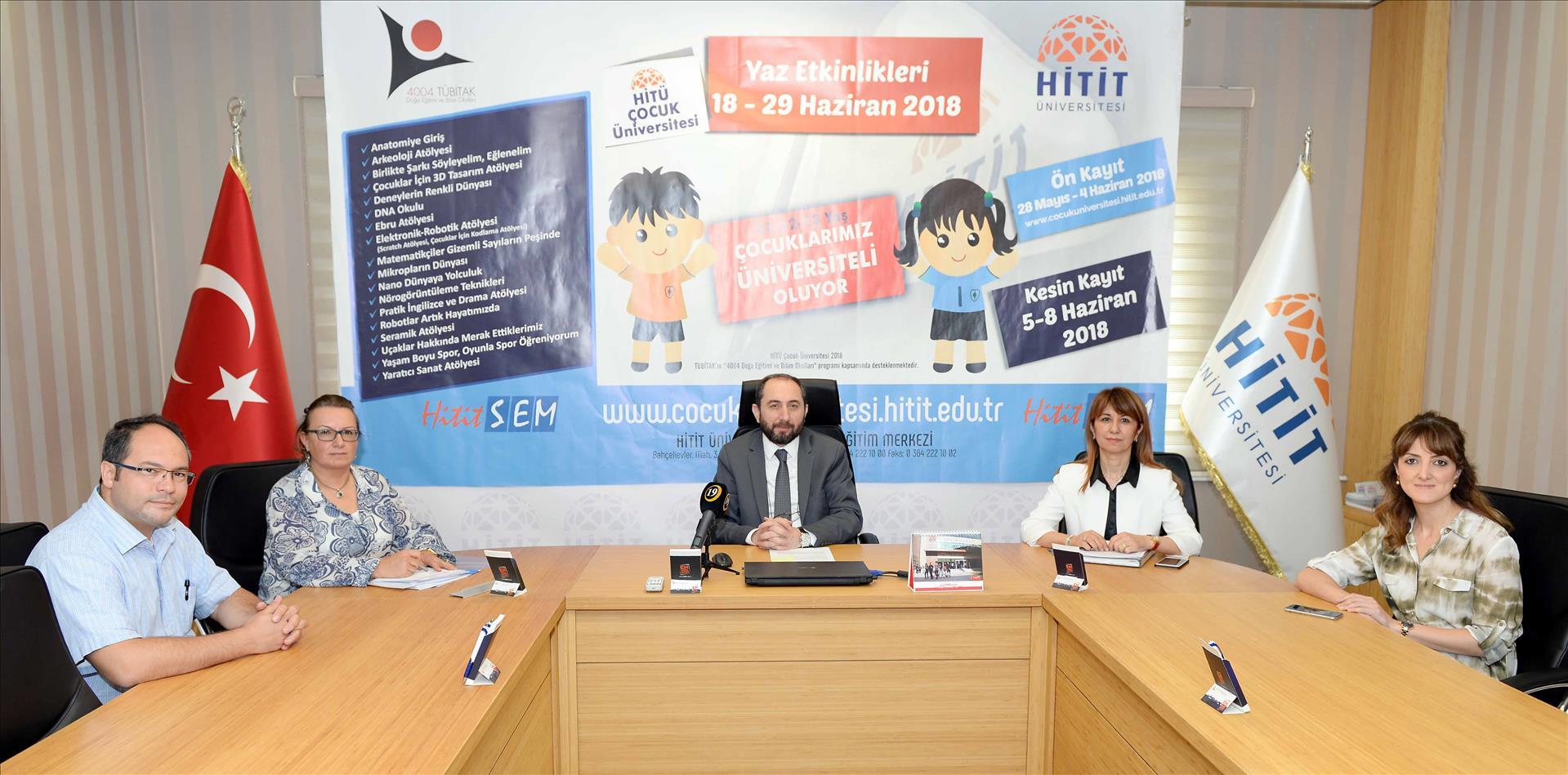 """""""HİTÜ Çocuk Üniversitesi 2018"""" Etkinlikleri Tanıtım Toplantısı Yapıldı"""