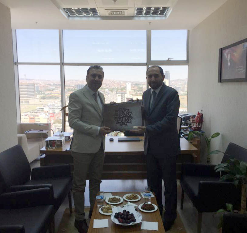 Rektörümüzden Ahmet Dursunoğlu'na Hayırlı Olsun Ziyareti