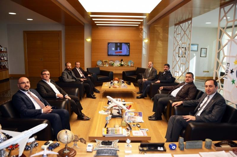 MÜSİAD Çorum Şubesi Yönetim Kurulu Üyeleri Rektörümüzü Ziyaret Etti