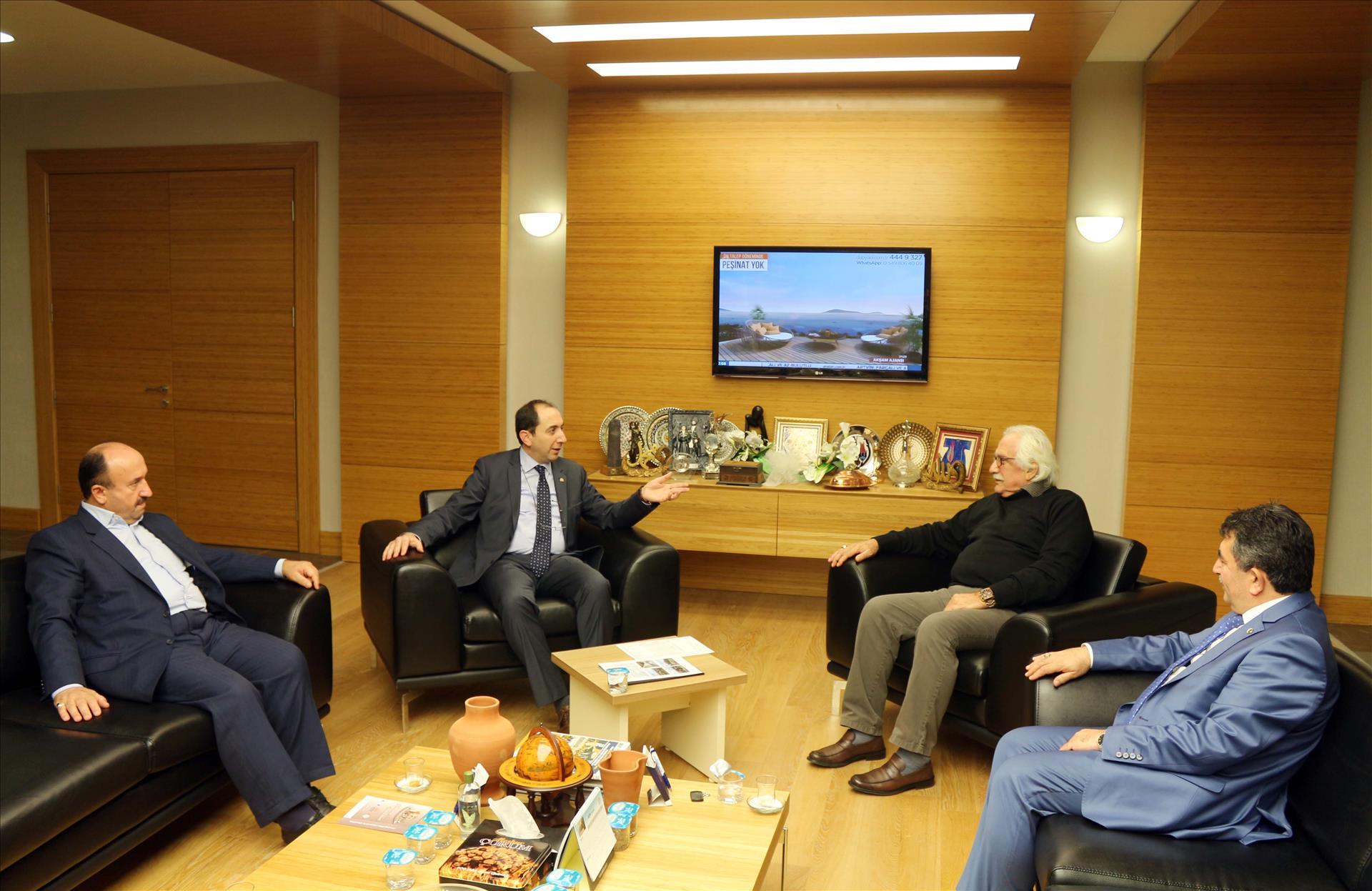 Gazeteci-Yazar Bahadıroğlu Rektörümüzü Ziyaret Etti