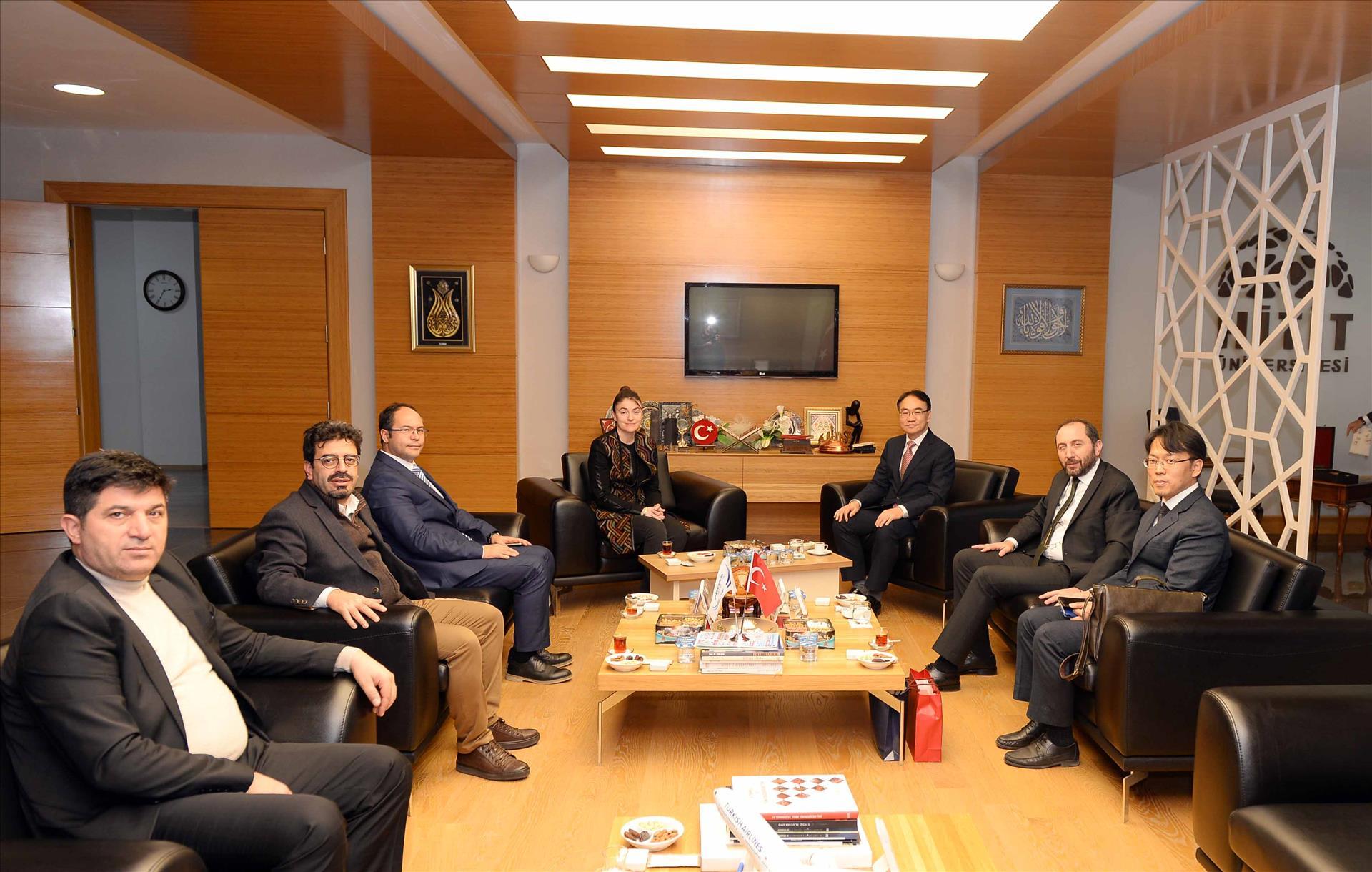 Kore Cumhuriyeti Büyükelçiliğinden Rektörümüze Ziyaret