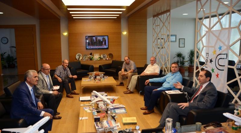 Rektörümüze Dünya Ahıska Türkleri Birliğinden Ziyaret