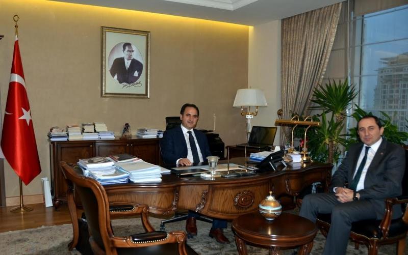 Rektörümüz Yurtdışı Türkler ve Akraba Topluluklar Başkanı Doç.Dr. Bülbül'ü Ziyaret Etti