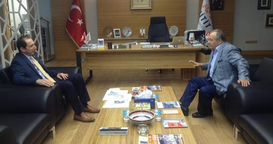 Çorum Milletvekilimiz TBMM İdare Amiri Salim Uslu, Rektörümüzü Ziyaret Etti