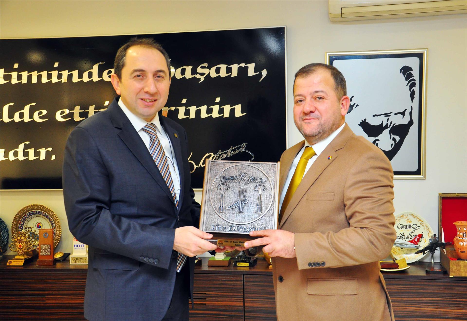 ÇTSO Başkanı Başaranhıncal'a Rektörümüzden Teşekkür Ziyareti