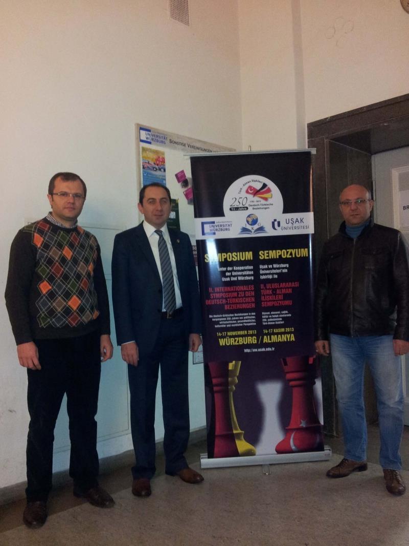 Rektörümüz Würzburg'da Düzenlenen Uluslararası Türk-Alman İlişkileri Sempozyumuna Katıldı