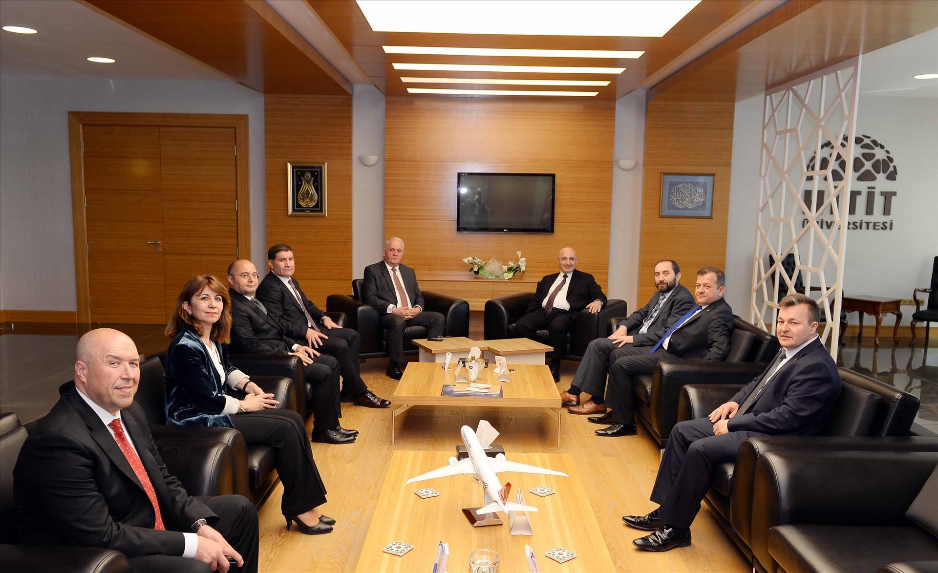 Halkbank Genel Müdürü Osman Arslan'dan Rektörümüze Ziyaret
