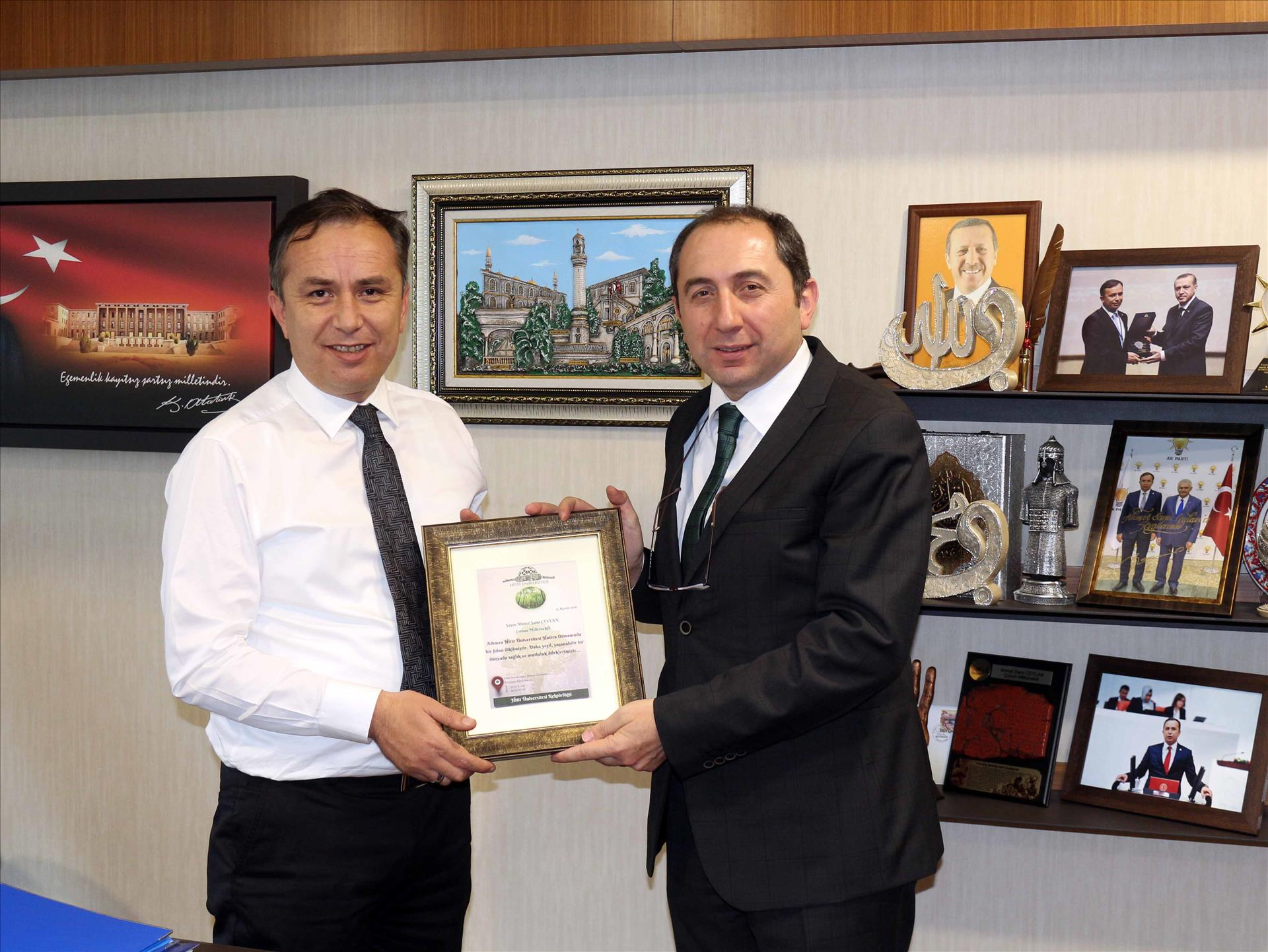 Thanks Visit to Çorum Deputies by Our Rector