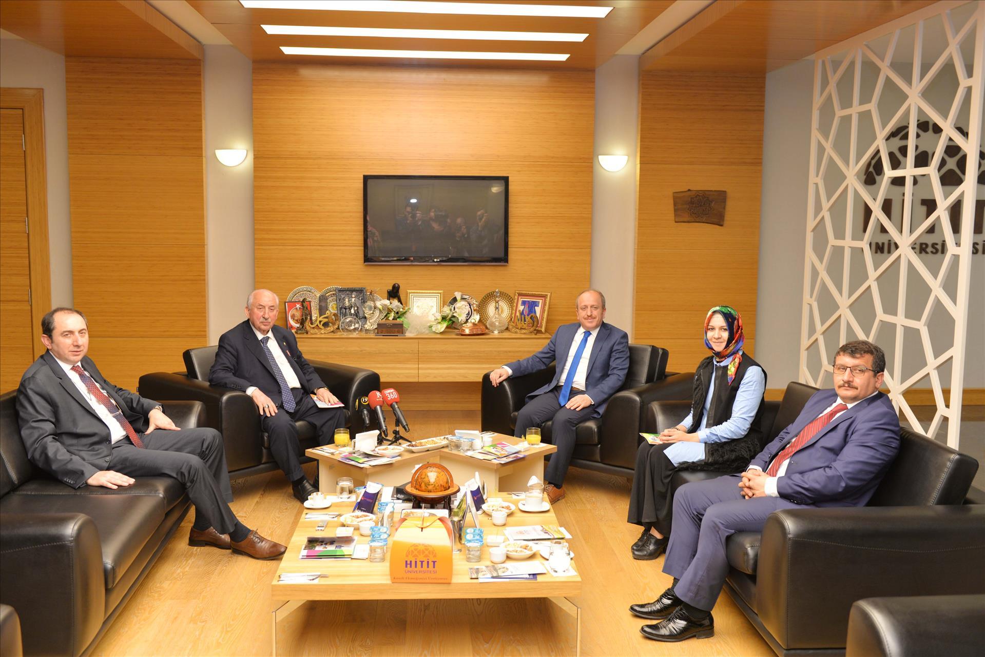 AK Parti İl Başkanlığı Heyeti Rektörümüzü Ziyaret Etti